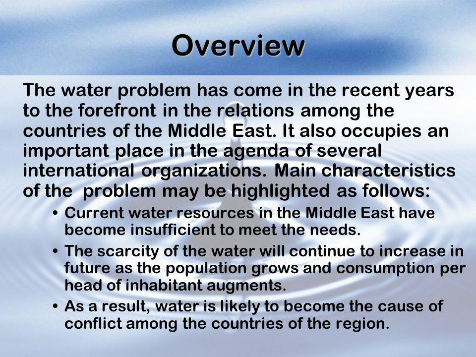 Water and the Palestinian-Israeli Conflict: Competition or Cooperation.