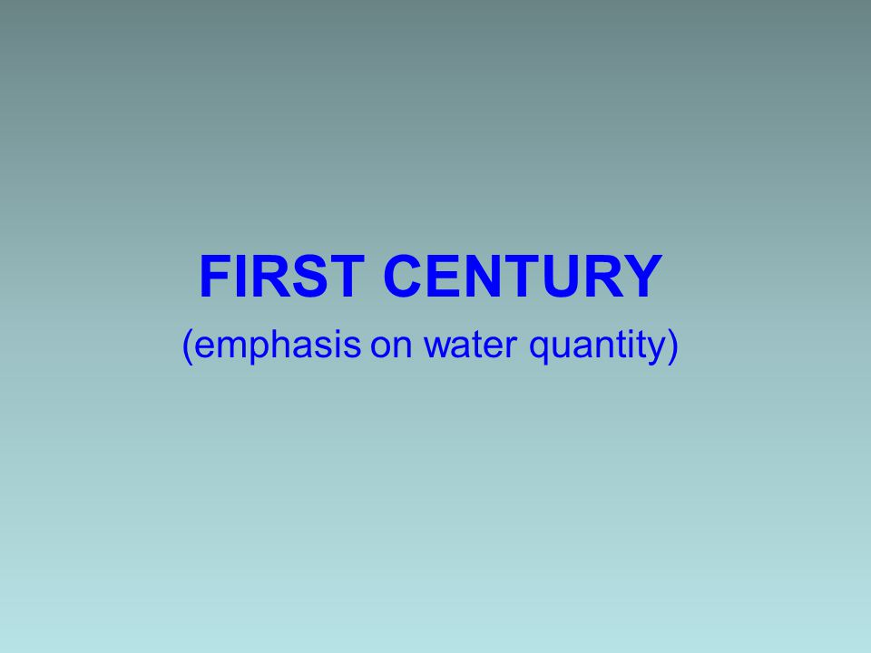 First 50 yr of Public Water Supply Construction of the water system was the largest expenditure made by city (40% of all municipal spending) Water services not evenly distributed (working class neighborhoods served less than affluent areas) (1872 Water Commission ruling relating pipe size to potential revenue)