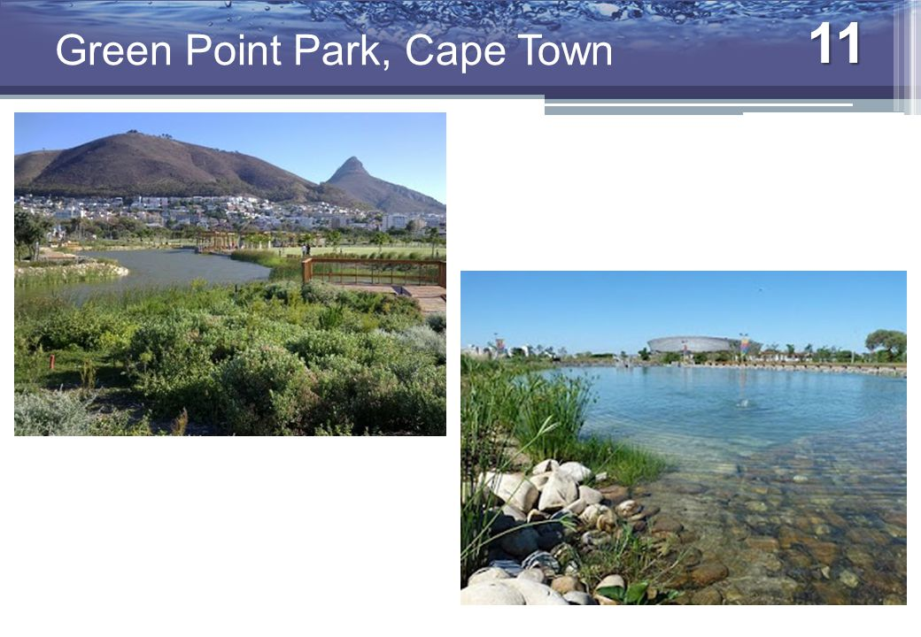 11 Urban Water Management Green Point Park, Cape Town