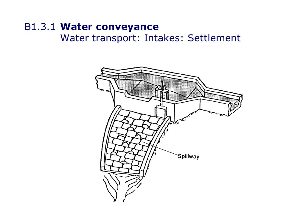 B1.3.2Water conveyance Water transport: Open channels: Manning s equation V = Stream velocity (m s -1 ) R = Hydraulic radius S = Slope n =Manning roughness