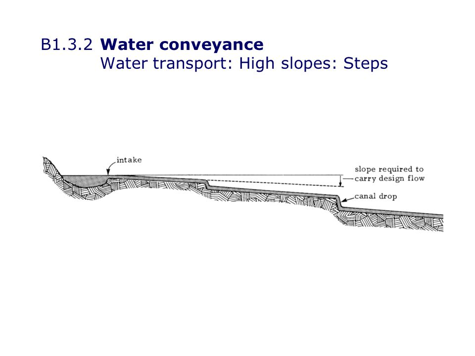 B1.3.2Water conveyance Water transport: High slopes: Steps