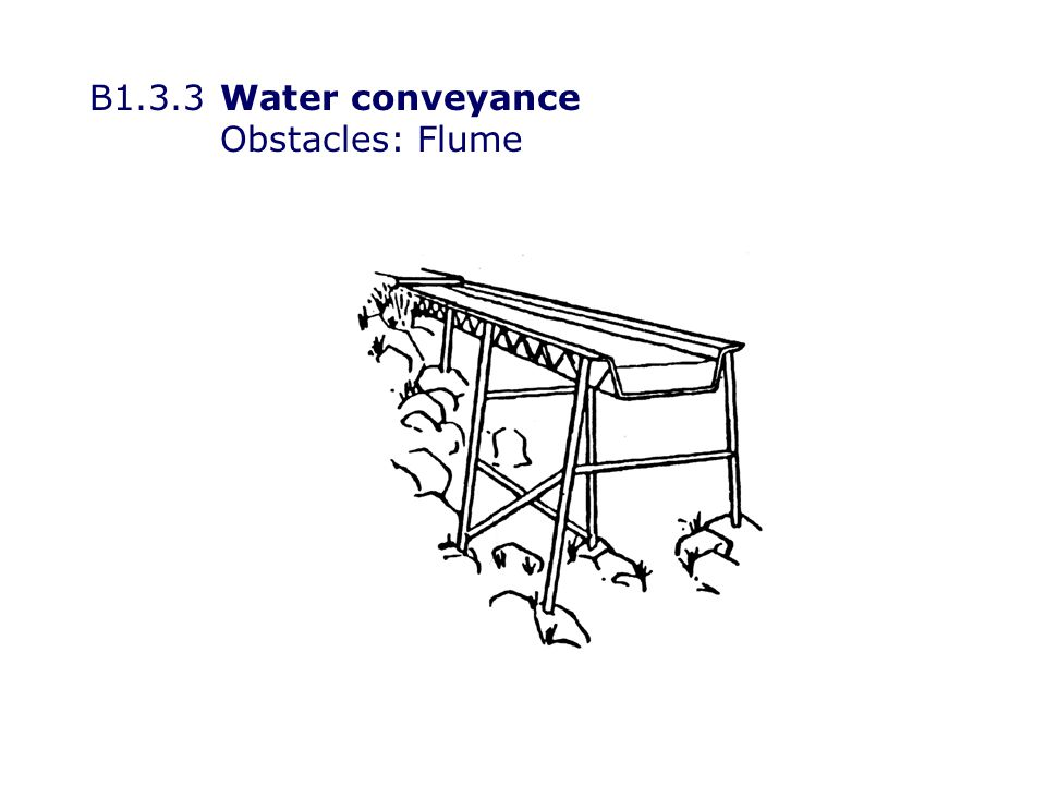B1.3.3Water conveyance Obstacles: Flume