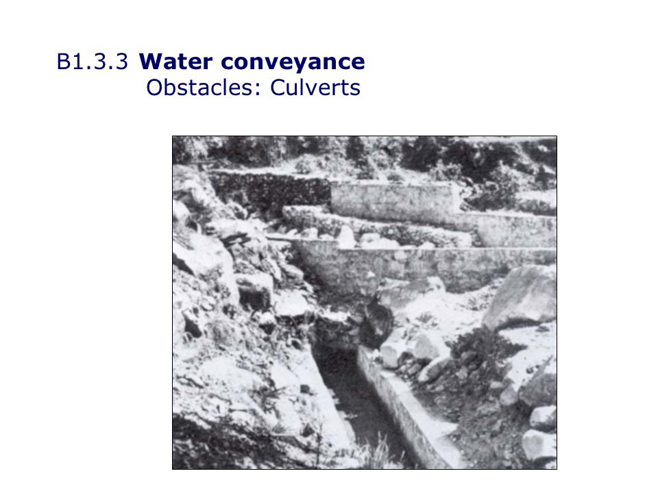 B1.3.3Water conveyance Obstacles: Inverted syphons