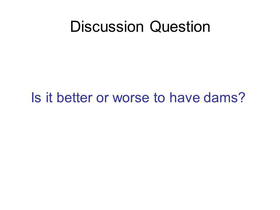Discussion Question Is it better or worse to have dams?