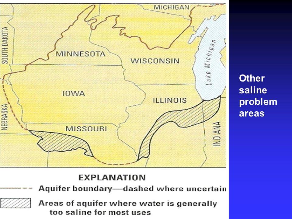 Other saline problem areas