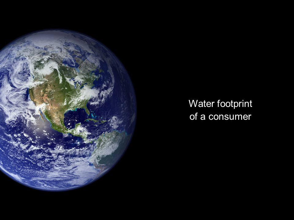 Water footprint of a consumer