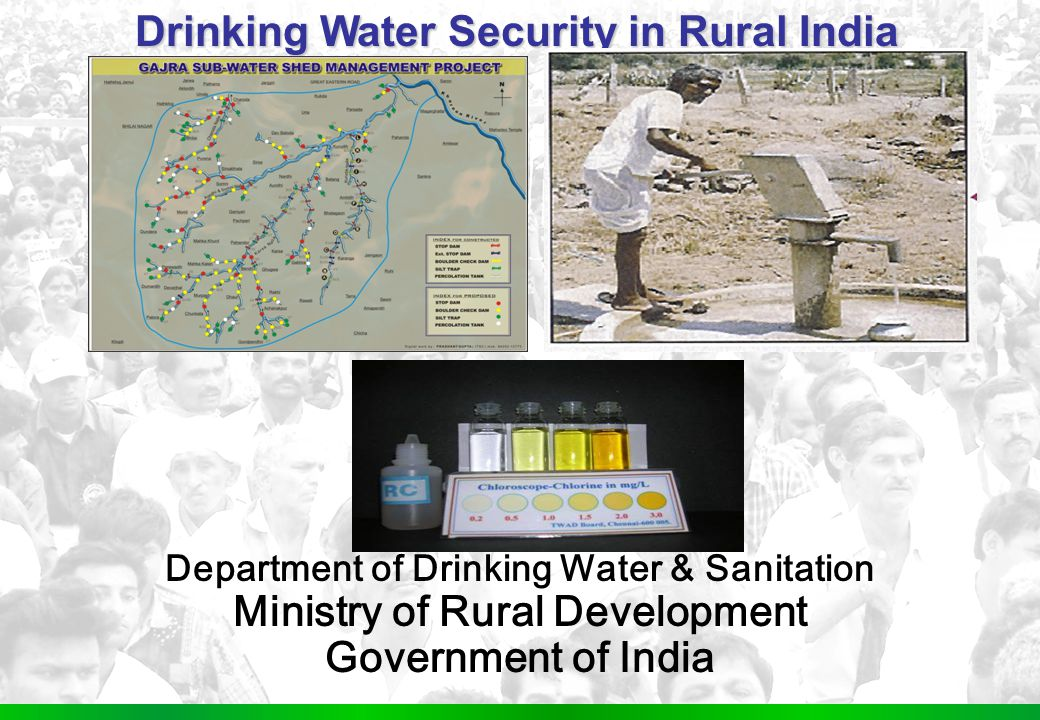 1 Water Supply - Sector O verview Department of Drinking Water & Sanitation Ministry of Rural Development Government of India Drinking Water Security