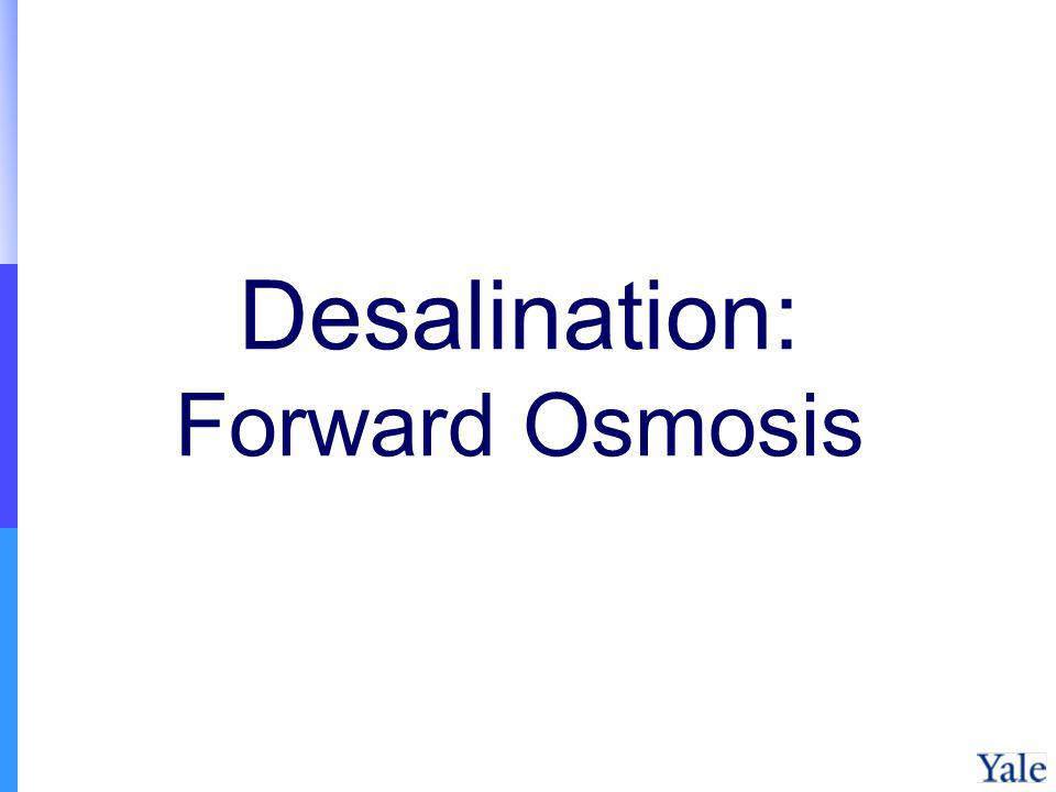 Desalination: Forward Osmosis