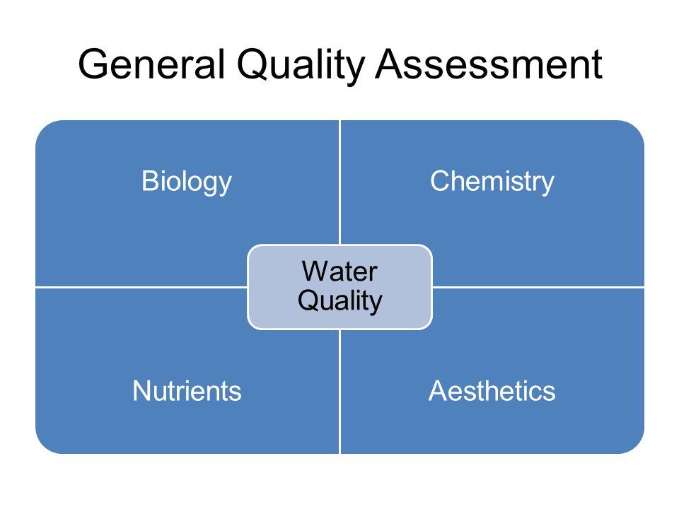 General Quality Assessment BiologyChemistry NutrientsAesthetics Water Quality