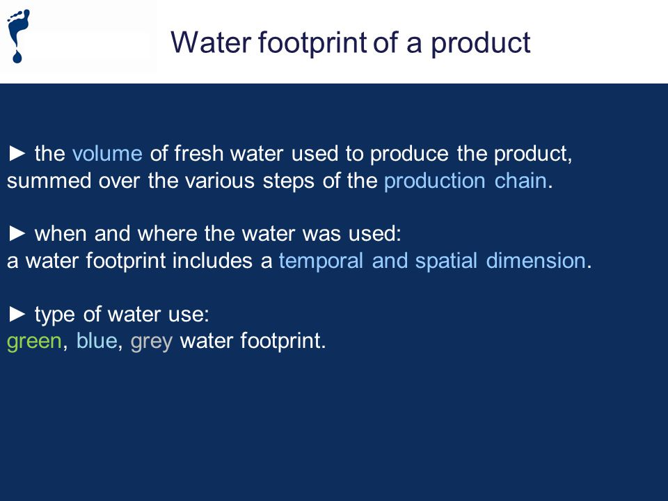 The water footprint of a business 3