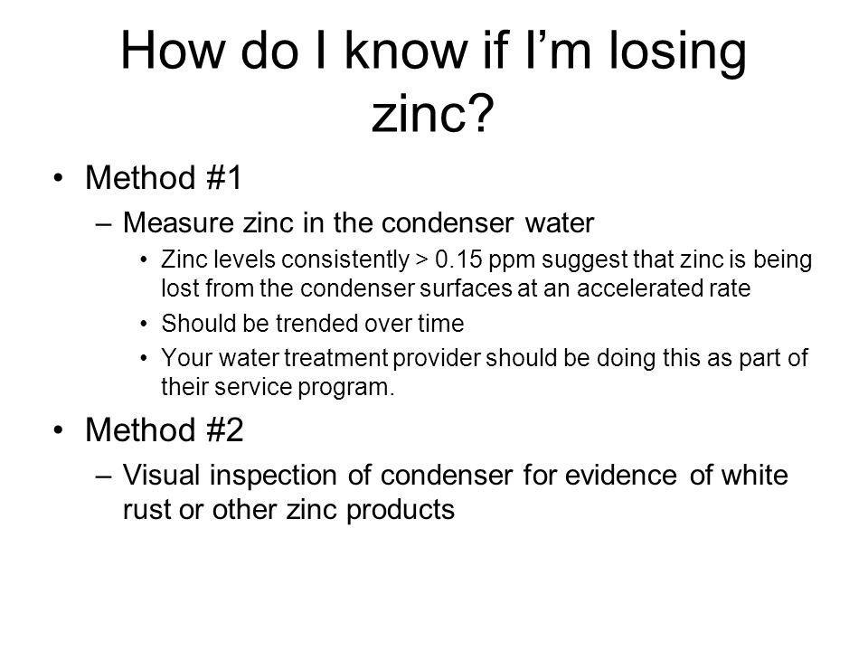 How do I know if Im losing zinc.