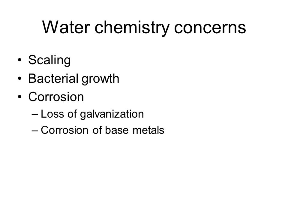 Problem #1: Scale Scale is mostly calcium carbonate.
