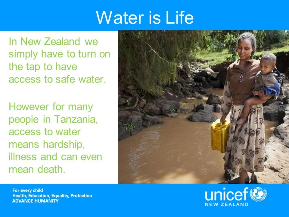 Access to Water in Tanzania In Tanzania access to safe water is extremely limited.