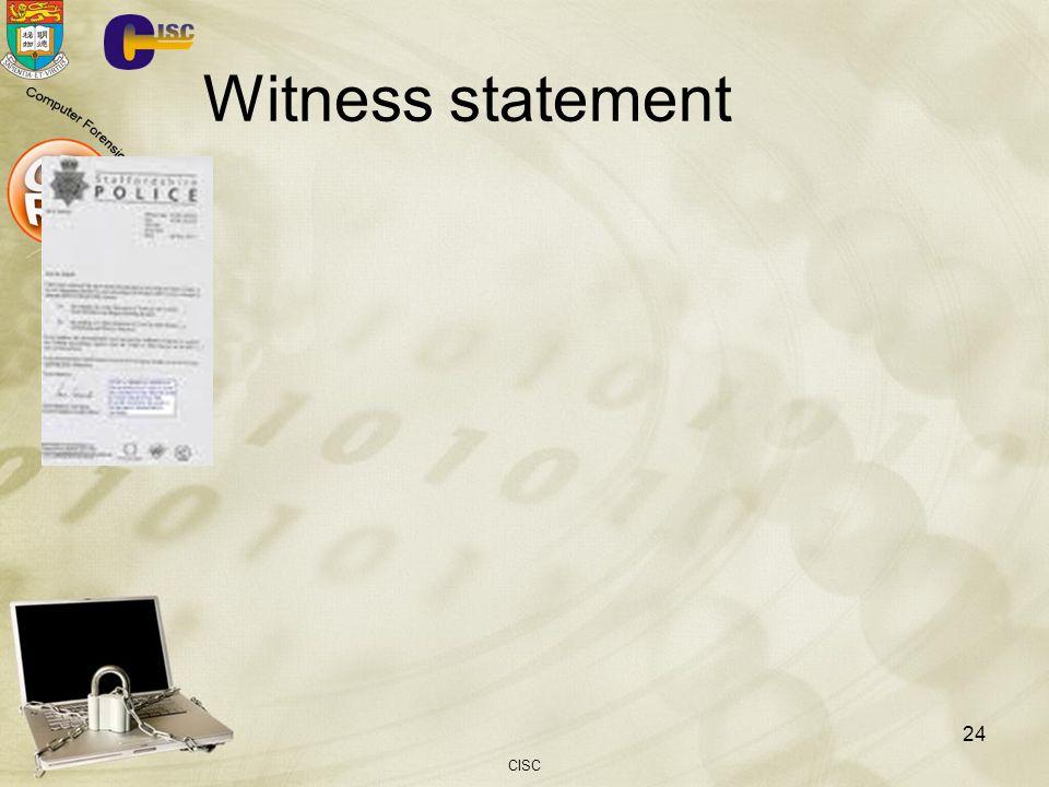 Witness statement CISC 24
