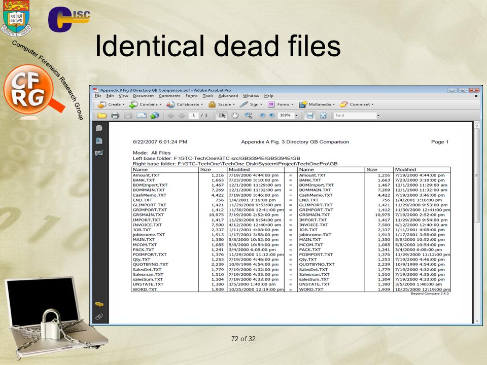 72 of 32 Identical dead files