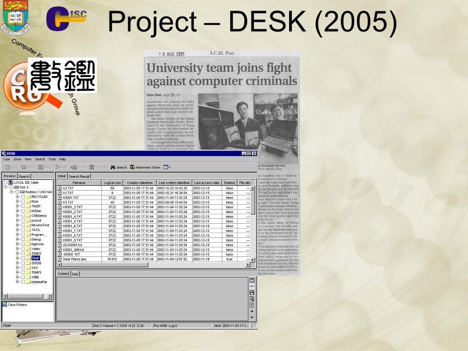 CISC 78 Project – DESK (2005)