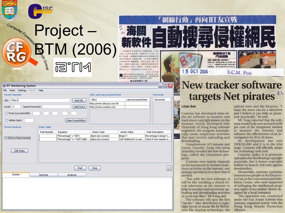 CISC 80 Project – BTM (2006)