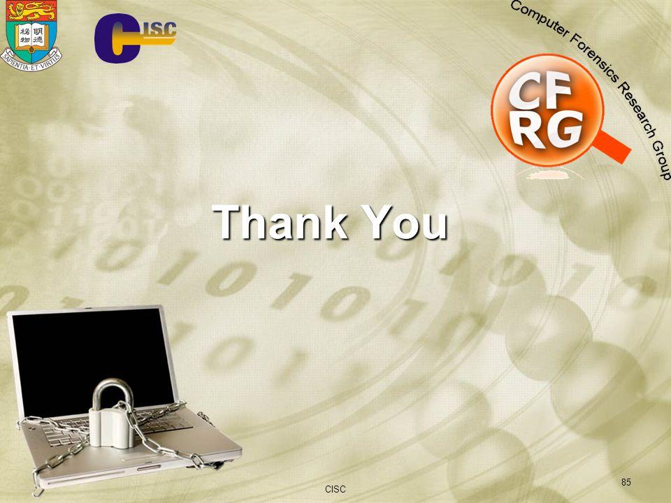 CISC 85 Thank You