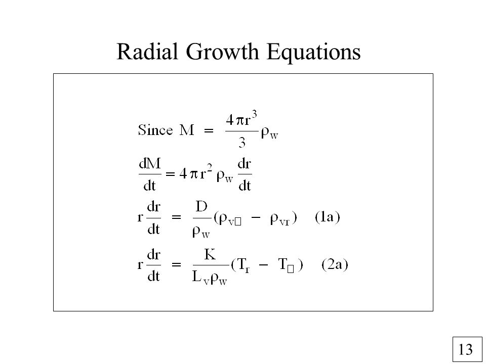 13 Radial Growth Equations