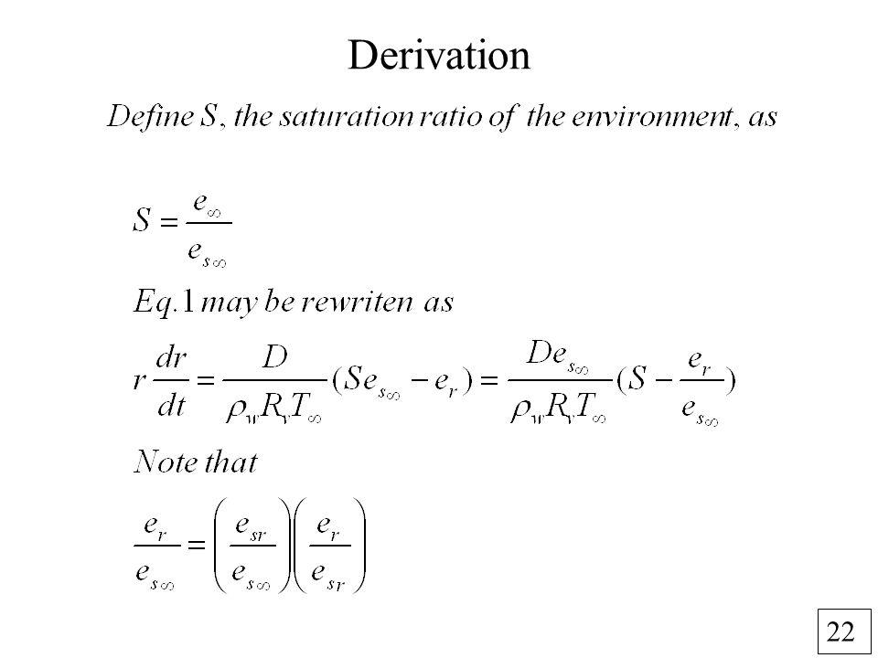 22 Derivation