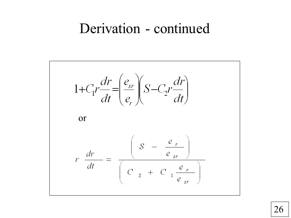 26 Derivation - continued or