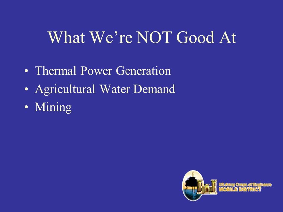 What Were NOT Good At Thermal Power Generation Agricultural Water Demand Mining