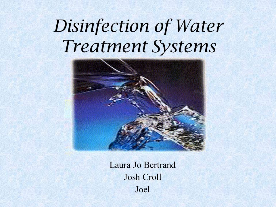 What is a Water Treatment System Is a form of cleansing wastes and other harmful microbes from water supplies.