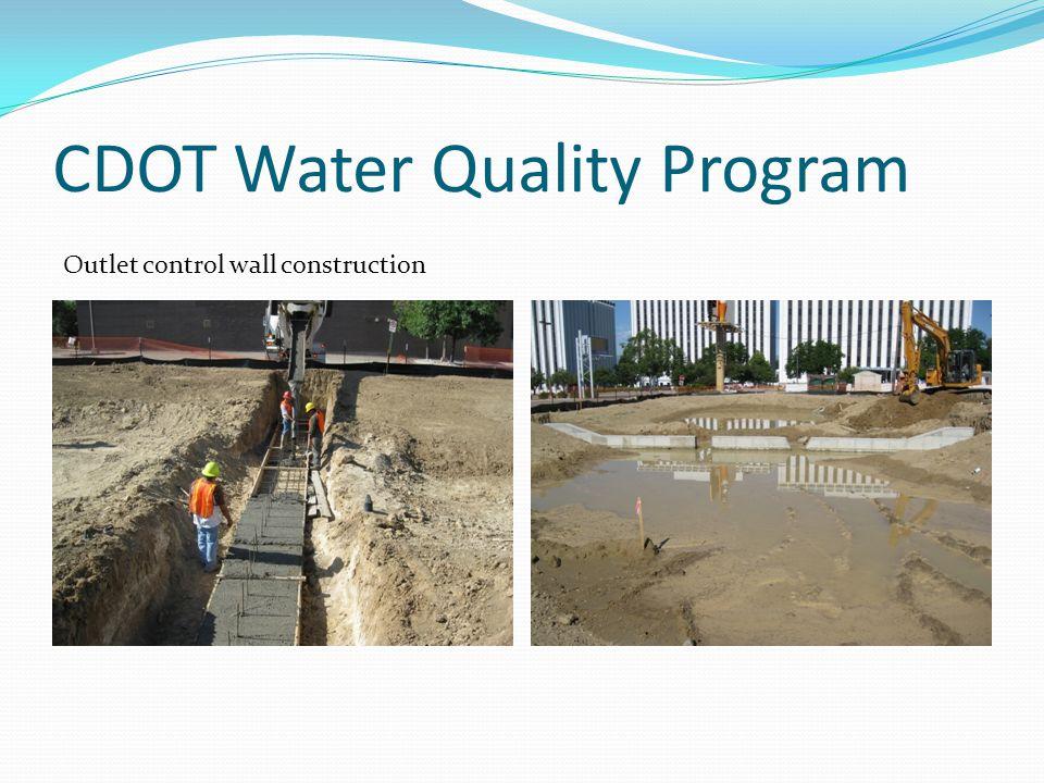 CDOT Water Quality Program Pond side slope stabilization using soil retention blankets