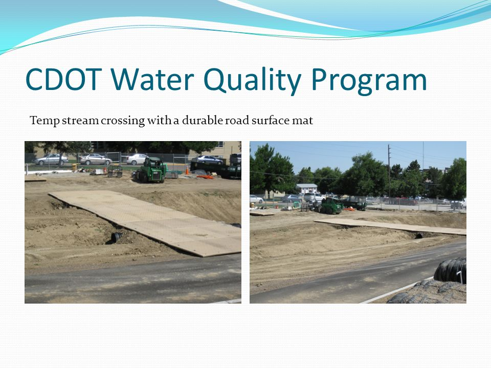 WQ Pond Slope Ditch Temp xing Mulch Soil retention blanket Slope & ditch reveg Site Applications and BMPs