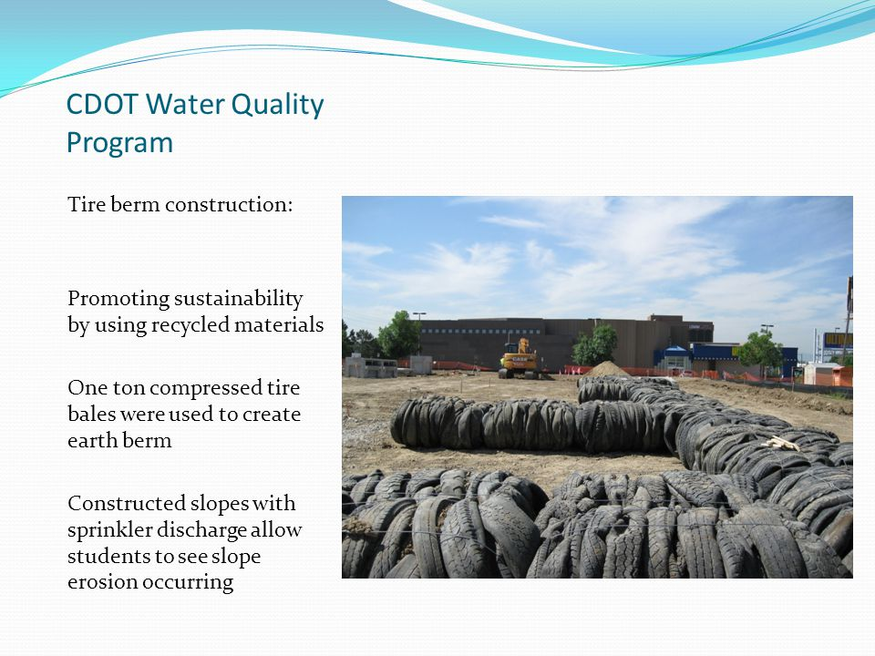 CDOT Water Quality Program Each compartment can be used for different erosion control application and simulated rainfall