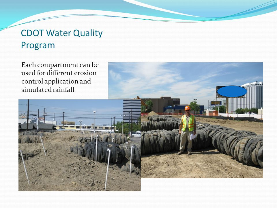 CDOT Water Quality Program Slope construction and backfill