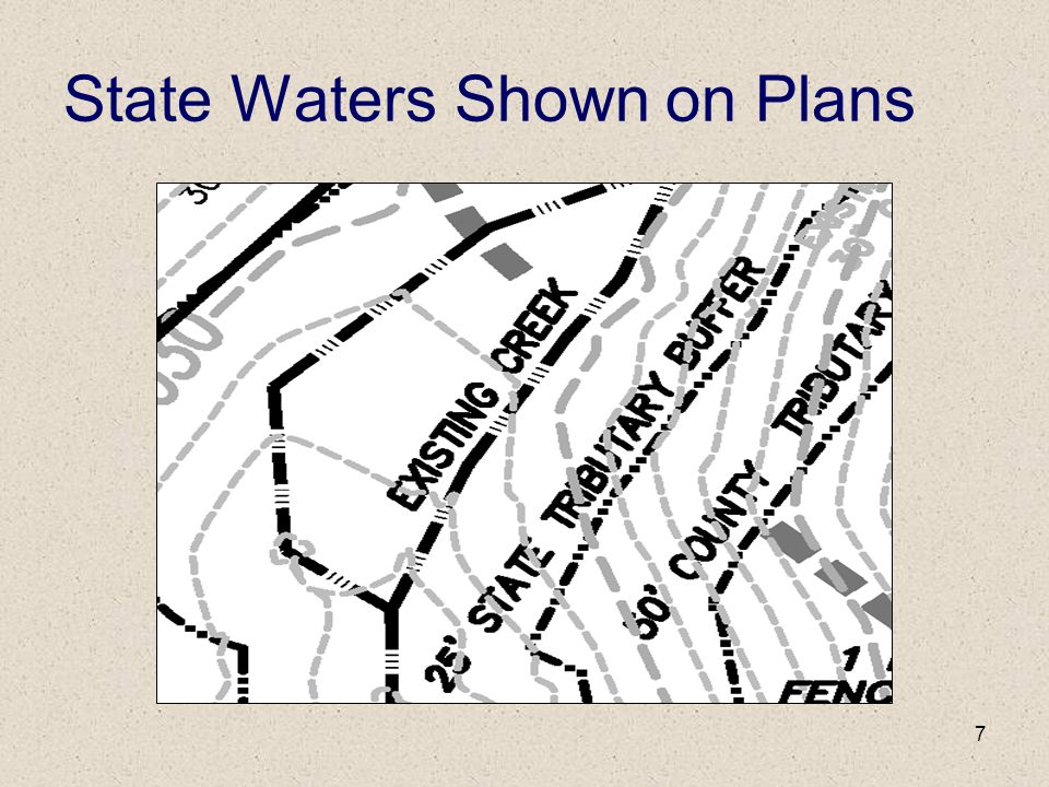 7 State Waters Shown on Plans
