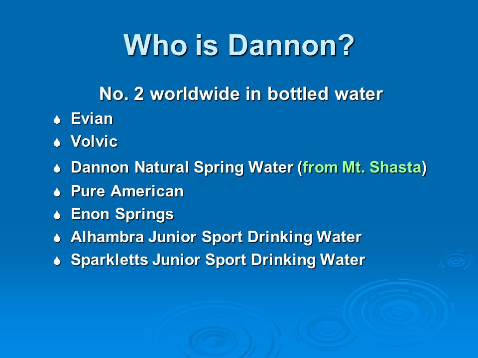 Who is Dannon.No.