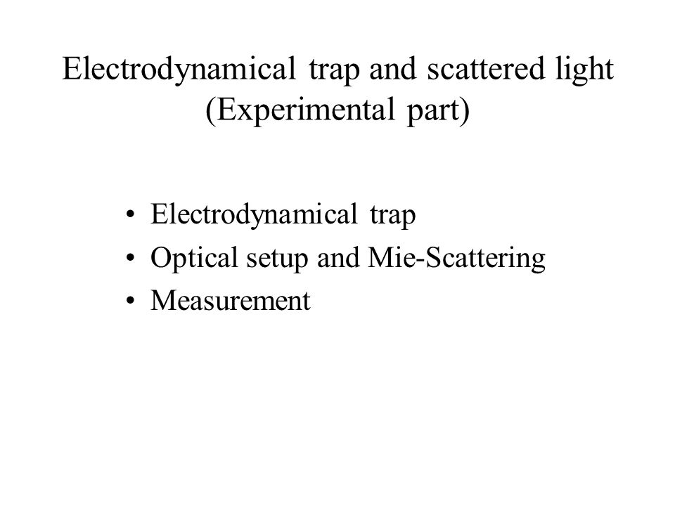 Naked Trap The hearth of an experimental setup is the inner chamber with ring electrodes.