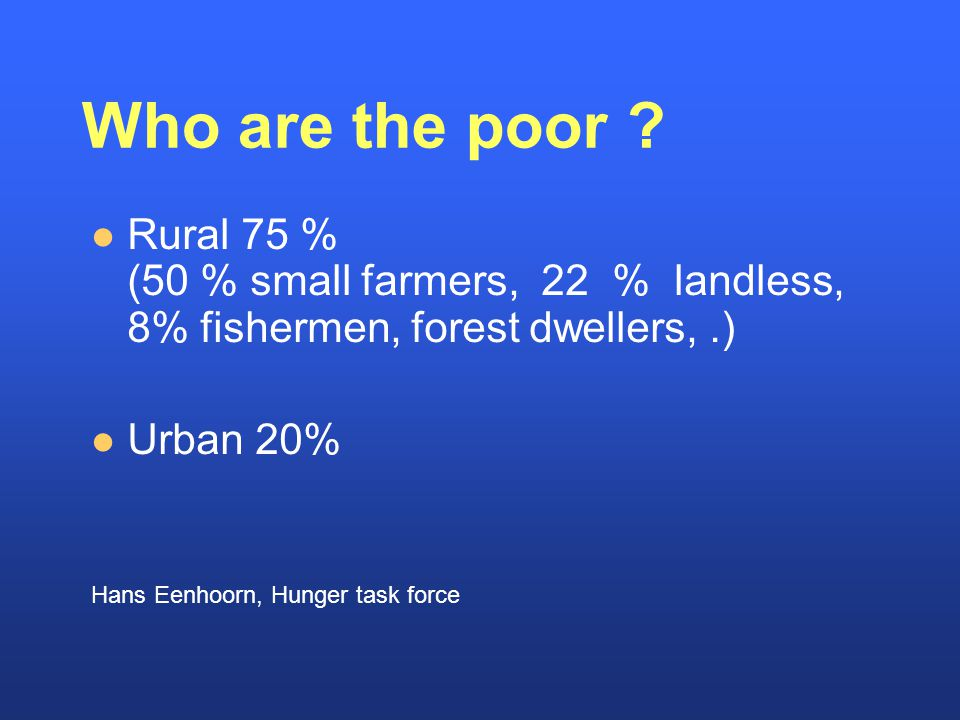 Who are the poor .