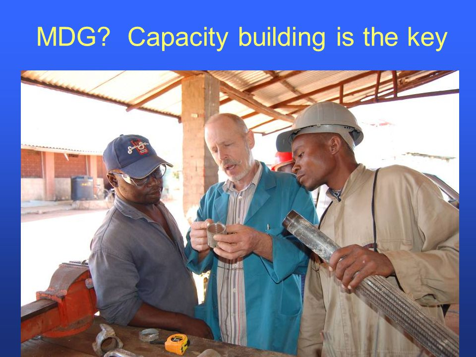 MDG Capacity building is the key
