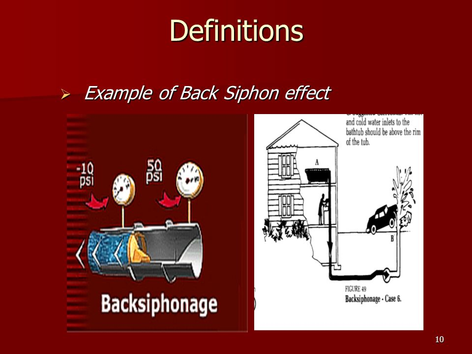 10Definitions Example of Back Siphon effect Example of Back Siphon effect