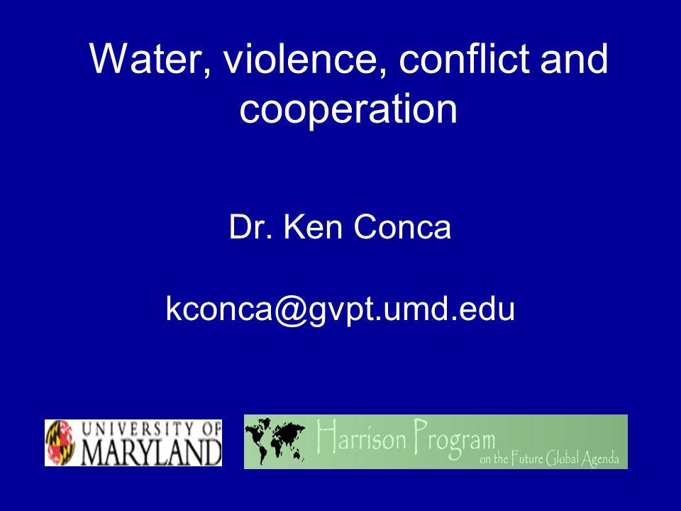 Findings (contd) From this, extrapolate 17 basins at risk Ganges- Brahmaputra La PlataOrange HanLempaSalween IncomatiLimpopoSenegal KuneneMekongTumen Kura-AraksOb (Ertis)Zambezi Lake ChadOkavango Source: Wolf et al, International Waters: Identifying Basins at Risk, Water Policy 5 Number 1 (2003) 29-60