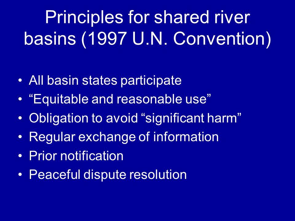 Principles for shared river basins (1997 U.N.
