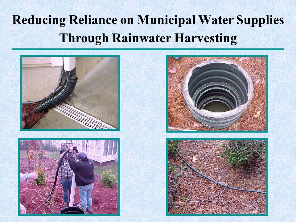 Reducing Reliance on Municipal Water Supplies Through Rainwater Harvesting