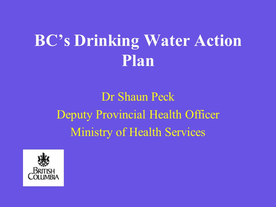 Drinking Water Protection Act §Passed in 2001 §Amended in 2002 §Brought into force May 2003 §More refinement expected l harmonizing with groundwater regulations l fees l ticketing