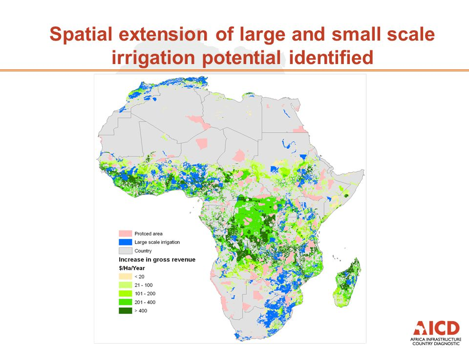 Spatial extension of large and small scale irrigation potential identified