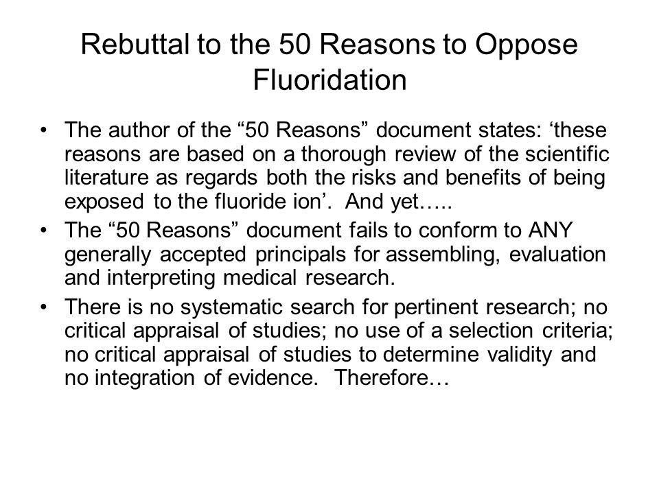 CURRENT ANTI-FLUORIDE ACTIVITY Anti-fluoridation websites: –F–FAN (fluoride action network) 50 reasons to oppose fluoridation: –1–1. F not necessary t