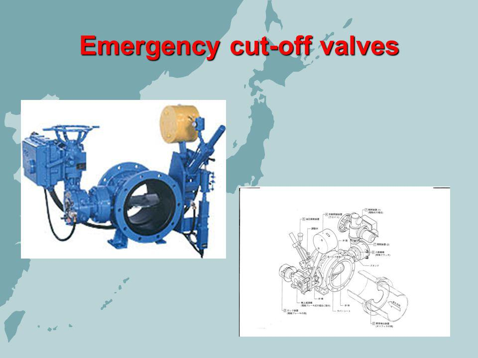 Emergency cut-off valves