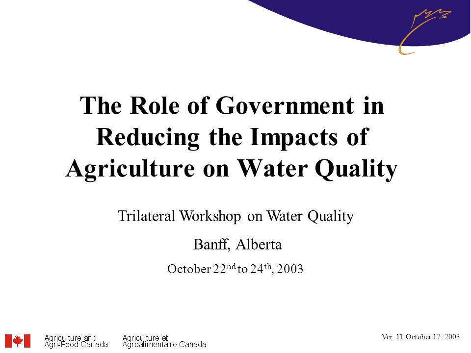 12 Canada-Mexico-United States have Common Goals… Sharing knowledge and expertise will help us address our common issues –Exploration of economic and policy instruments for water quality management –Sharing experiences with multi-stakeholder partnerships aimed at improving water quality –Sharing experiences in the development of scientific knowledge and decision support systems –Examining opportunities for collaboration to improve knowledge and improve management of shared water resources
