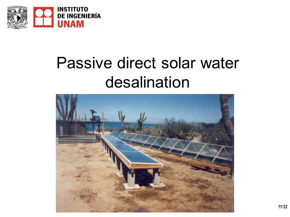 11/22 Passive direct solar water desalination