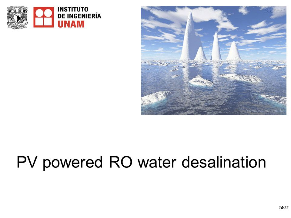14/22 PV powered RO water desalination