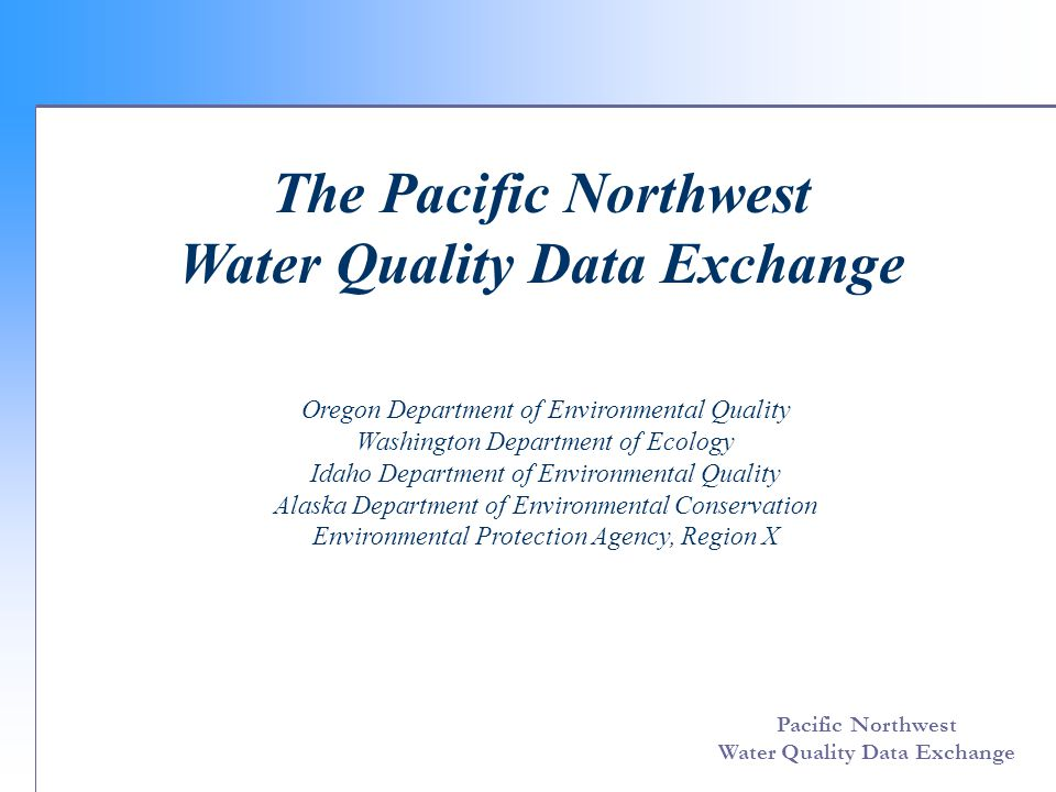 Pacific Northwest Water Quality Data Exchange Third step: download the data