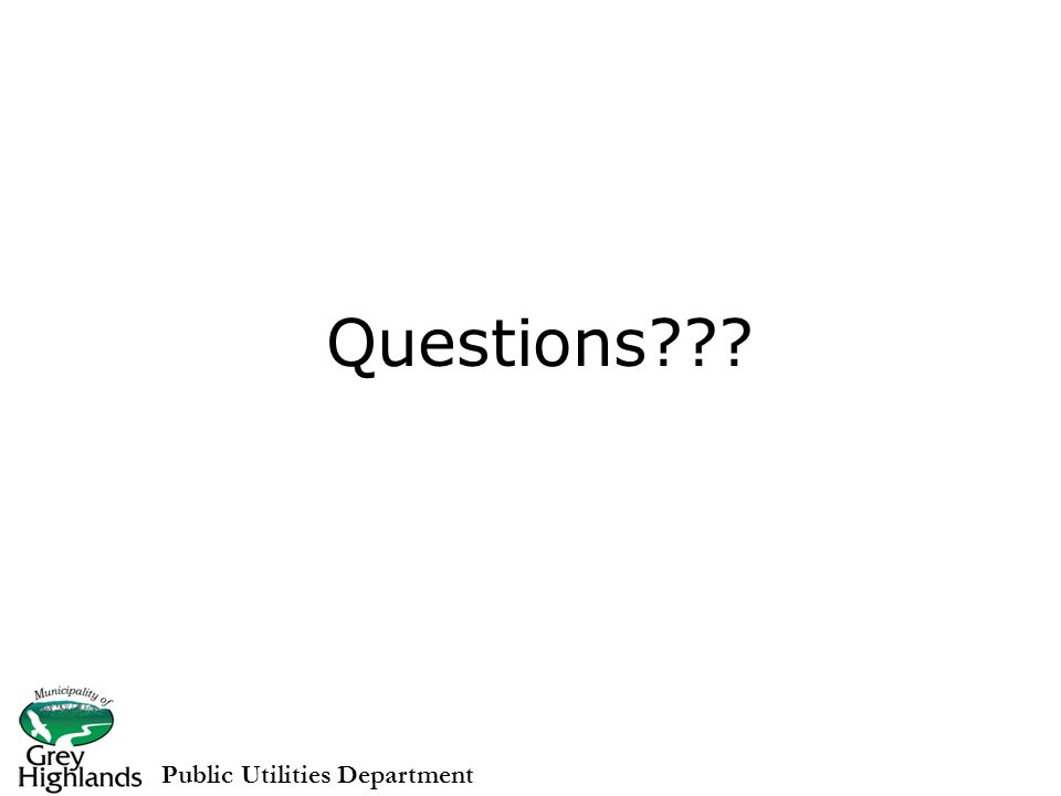 Questions Public Utilities Department