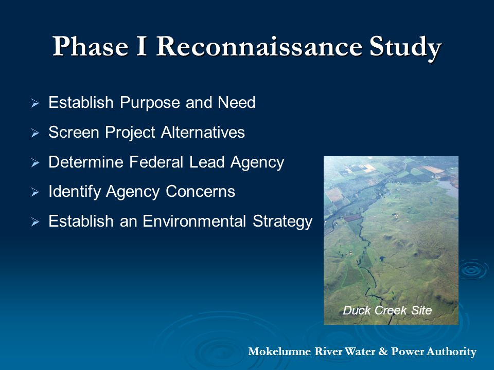 Purpose and Need An element in fulfilling the mission of the Countywide Water Management Plan An element in fulfilling the mission of the Countywide Water Management Plan To provide reliable water supplies To provide reliable water supplies To sustain current and future economic, social and environmental viability To sustain current and future economic, social and environmental viability Mokelumne River Water & Power Authority